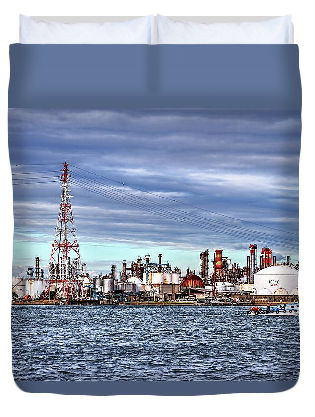 Manufacturing Equipment Duvet Cover featuring the photograph Industrial View by Uemii