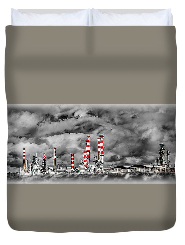 Industry Duvet Cover featuring the photograph Industry by Ernesto Santos