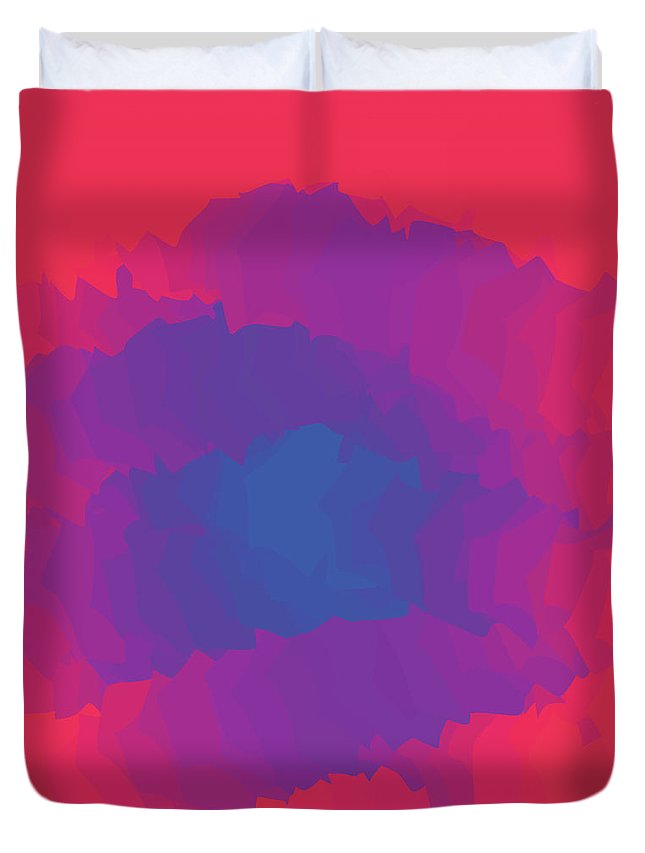 Presentation Duvet Cover featuring the digital art Inferno Background by Calvindexter