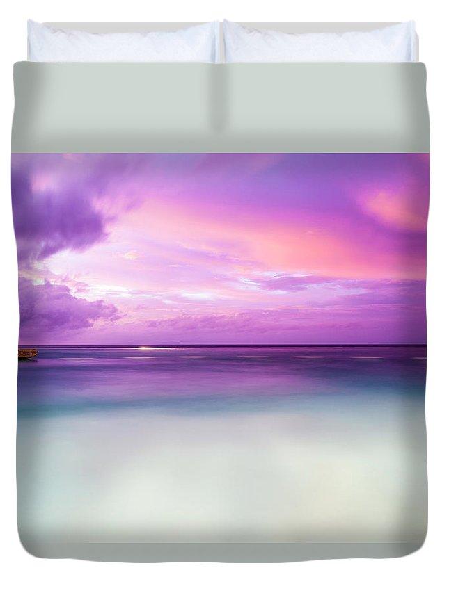 Scenics Duvet Cover featuring the photograph Infinity Pool, Uluwatu, Bali by John Harper