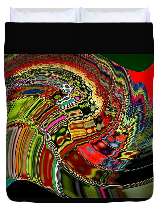 Digital Art Duvet Cover featuring the photograph Infinity Soundwave 1 by Cj Carroll
