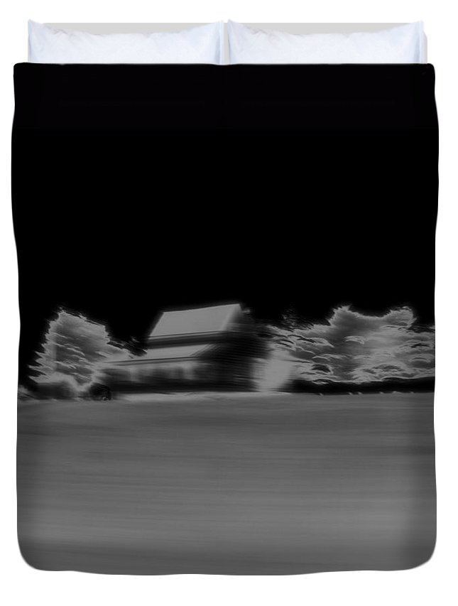 Infrared Abstract Minimalism Duvet Cover featuring the photograph Infrared Abstract Minimalism by Dan Sproul