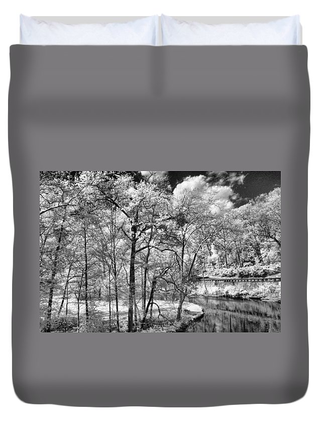 Infrared Duvet Cover featuring the photograph Infrared Stream by Michael McGowan