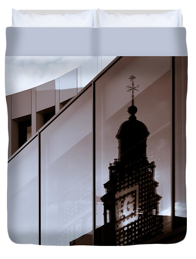 Maastricht Duvet Cover featuring the photograph Inner City by Dave Bowman