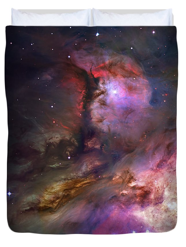 Messier 42 Duvet Cover featuring the photograph Inside Orion by Ricky Barnard