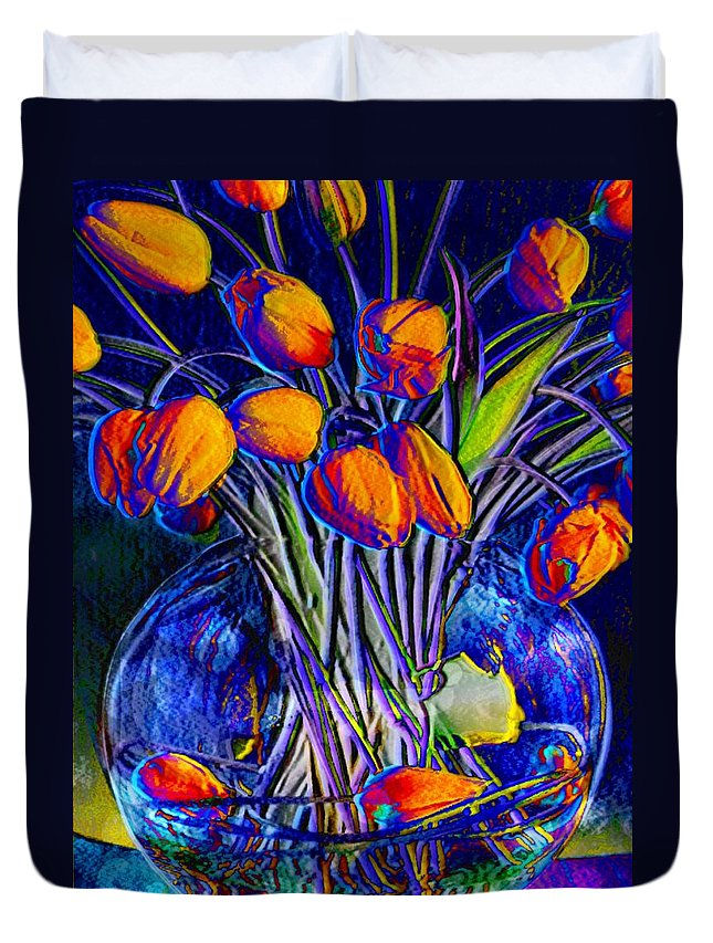Still Life Duvet Cover featuring the digital art Inside Out by Mary Eichert