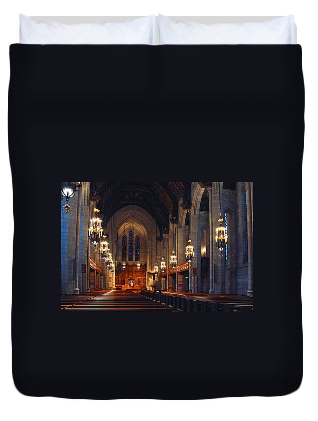 Chicago Duvet Cover featuring the photograph Inside The Cathedral by Lynn Bauer