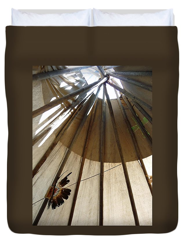 Tipi Duvet Cover featuring the photograph Inside The Tipi by Marcia Socolik