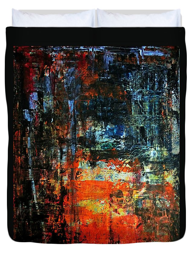Abstract Duvet Cover featuring the painting Insomnia by Callan Art