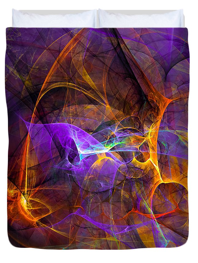 Abstract Duvet Cover featuring the digital art Inspiration by Modern Art Prints