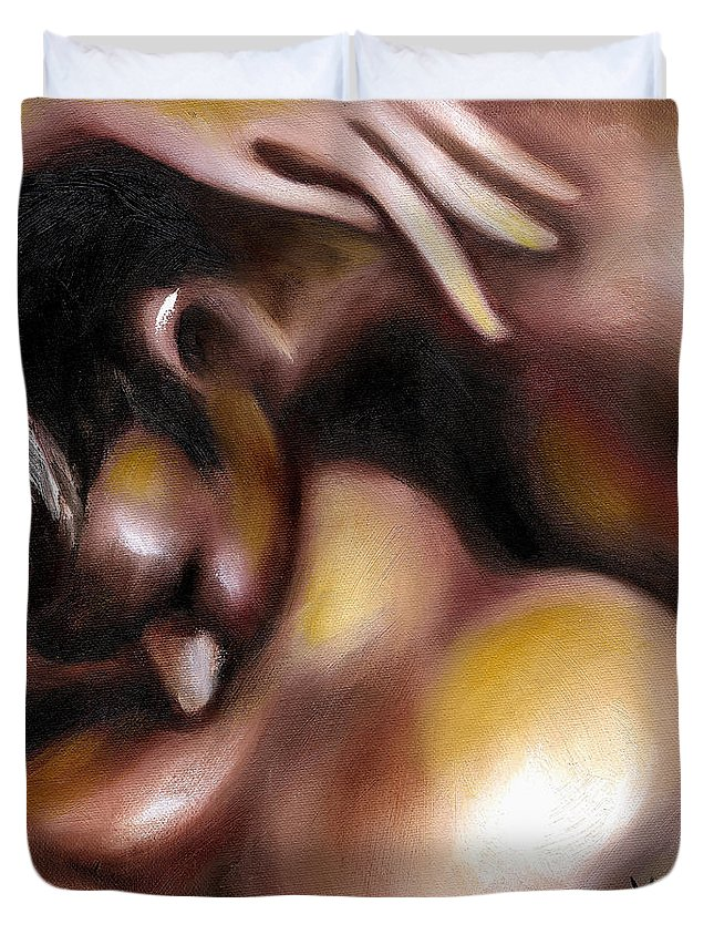 Painting Of Love Duvet Cover featuring the painting Instinct by Hiroko Sakai
