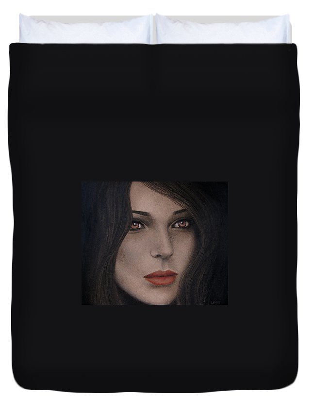 Intensity Duvet Cover featuring the painting Intensity by Lynet McDonald