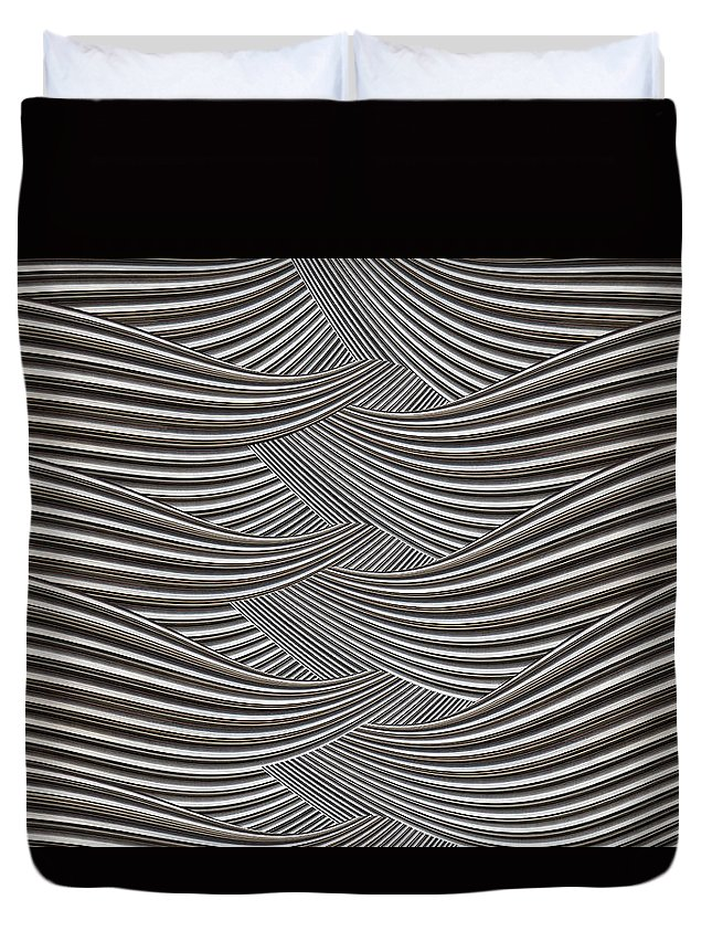 Interlaced Duvet Cover featuring the digital art Interlaced by Wendy Wilton