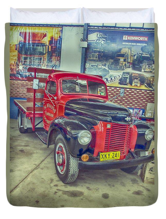 International Vintage Truck Duvet Cover featuring the photograph International Vintage Truck by Douglas Barnard
