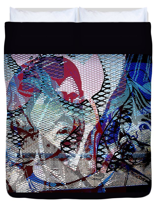 Interstate 10 Duvet Cover featuring the digital art Interstate 10- Exit 261- 6th Ave Overpass- Rectangle Remix by Arthur BRADford Klemmer