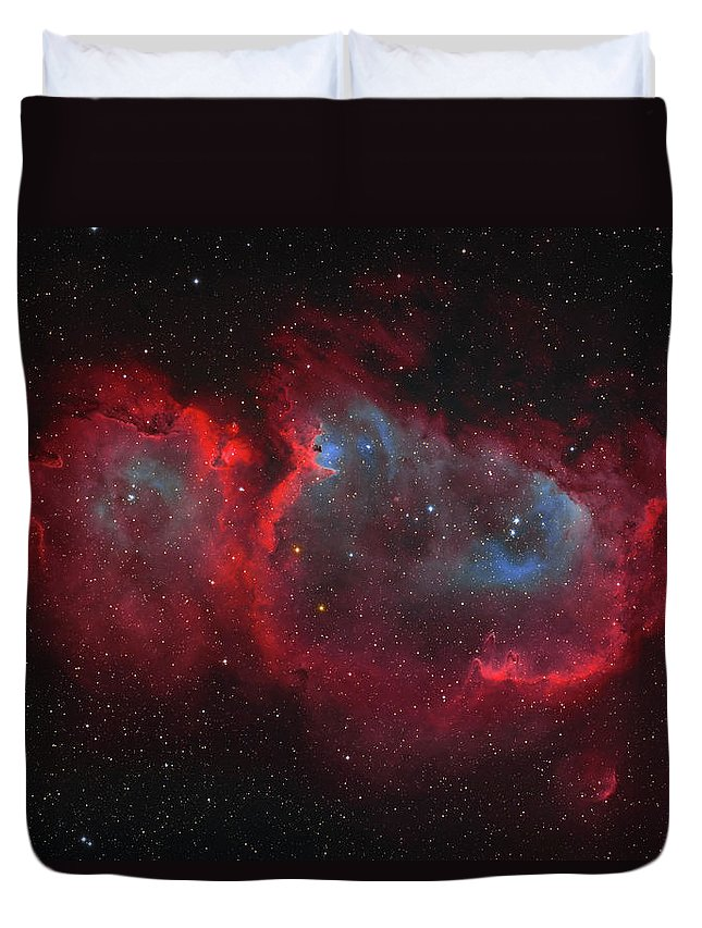Horizontal Duvet Cover featuring the photograph Interstellar Embryo Ic 1848, The Soul by Lorand Fenyes