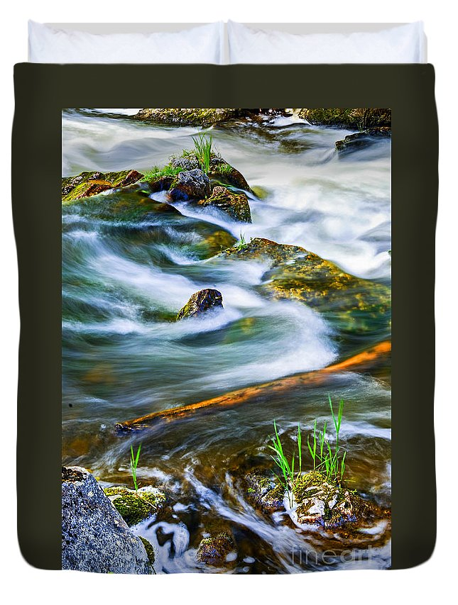 River Duvet Cover featuring the photograph Intimate With River by Elena Elisseeva