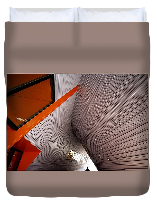 Architecture Duvet Cover featuring the photograph Into The Abyss by Wayne Sherriff