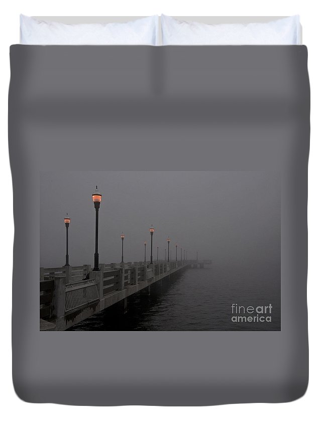 Foggy Duvet Cover featuring the photograph Into The Fog by Roy Thoman