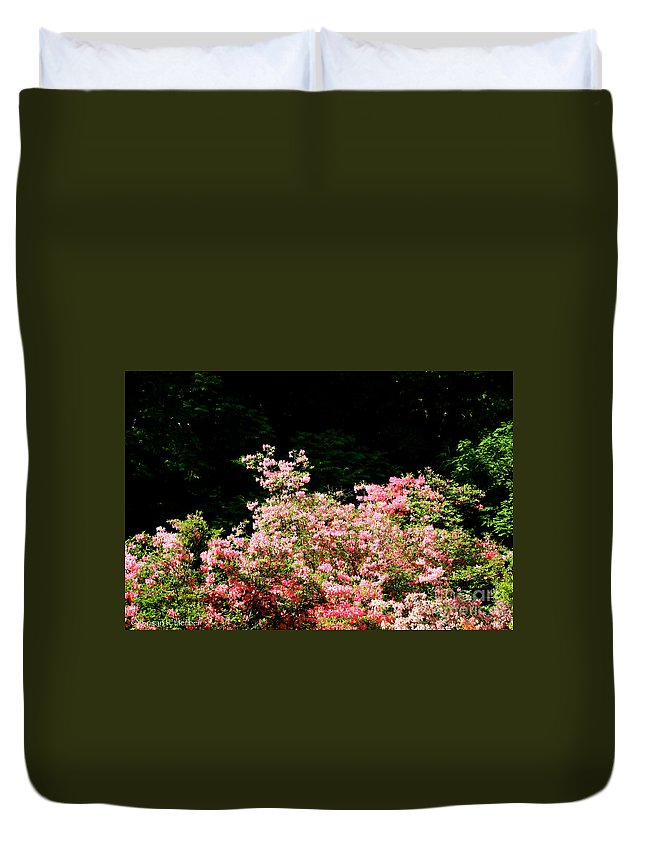 Flower Duvet Cover featuring the photograph Into The Forest by Susan Herber
