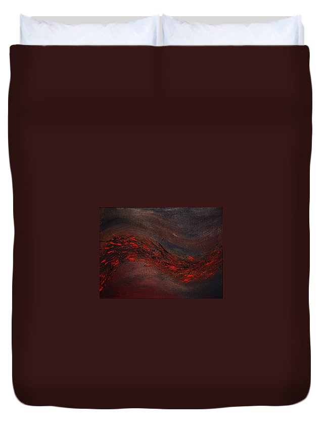 Acrylic Duvet Cover featuring the painting Into The Night by Todd Hoover