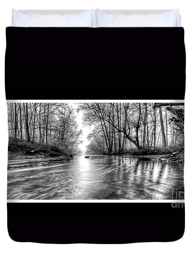 Woods Duvet Cover featuring the photograph Into The Woods by Traci Law
