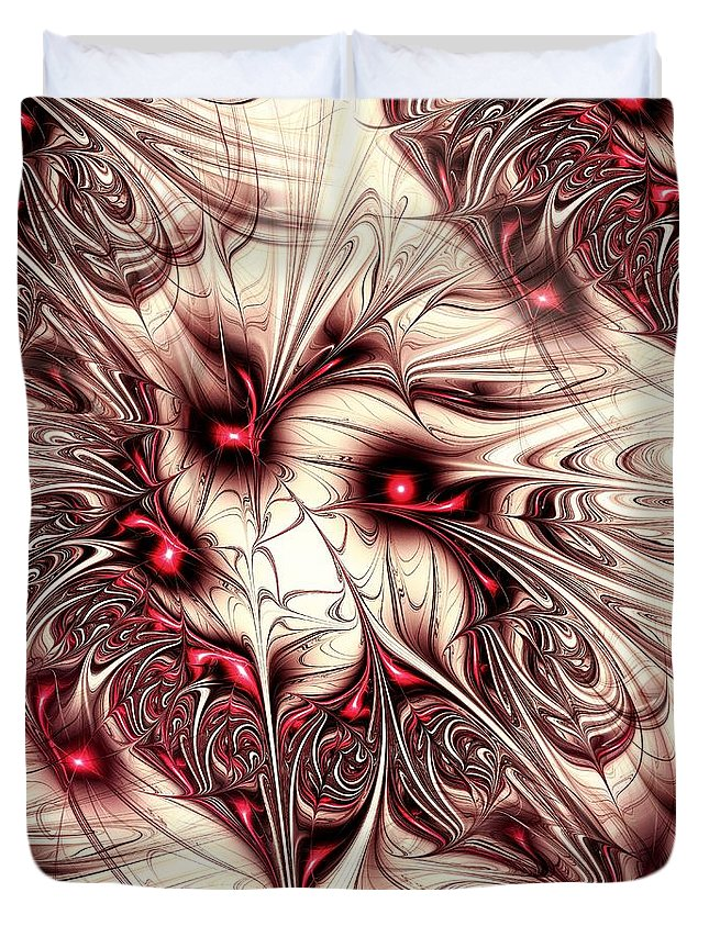 Malakhova Duvet Cover featuring the digital art Invasion by Anastasiya Malakhova