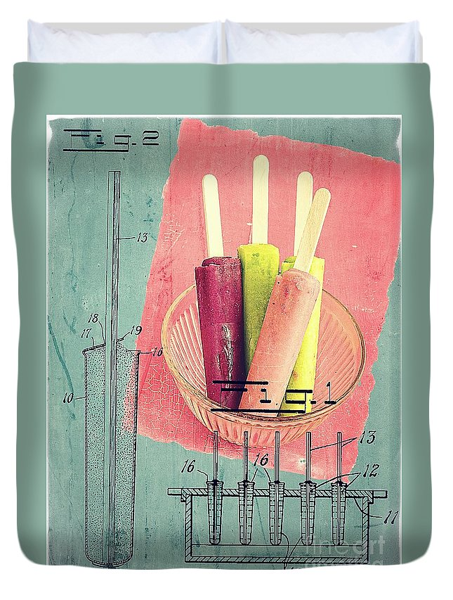 Popsicle Duvet Cover featuring the photograph Invention Of The Ice Pop by Edward Fielding