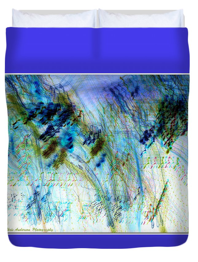 Digital Duvet Cover featuring the photograph Inverted Light Abstraction by Chris Anderson