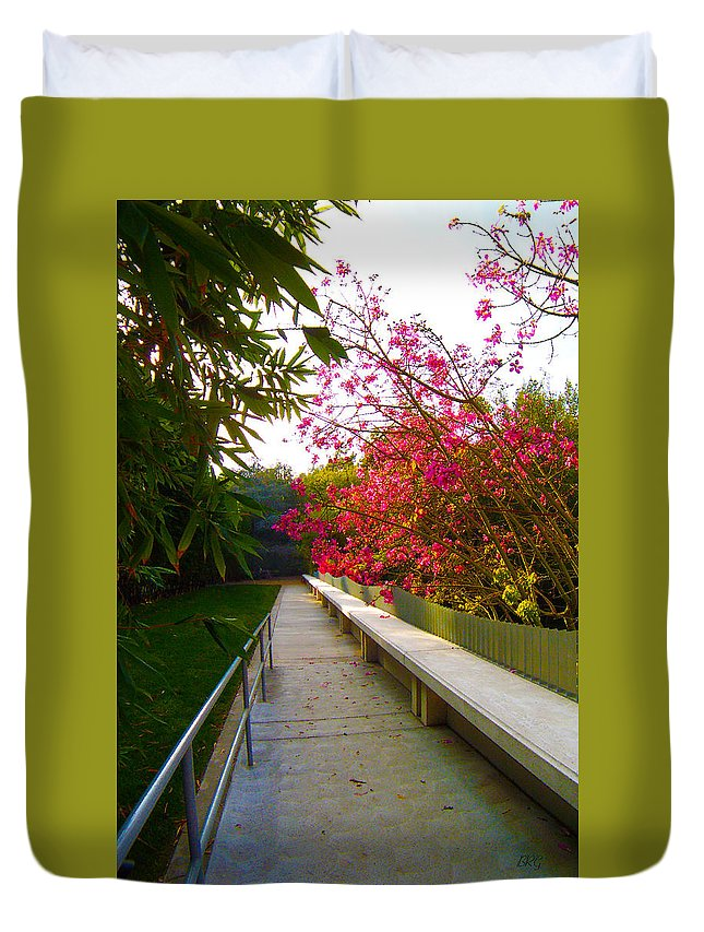 Garden Duvet Cover featuring the photograph Inviting Garden Alley by Ben and Raisa Gertsberg