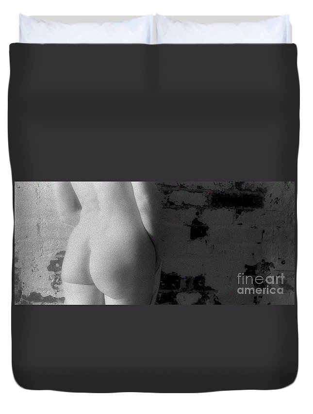 Timothy A. Bischoff Duvet Cover featuring the photograph Ir Nude 0042 by Timothy Bischoff