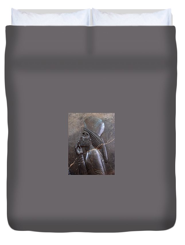 Iran Duvet Cover featuring the photograph Iran Friendly Dignitary by Lois Ivancin Tavaf