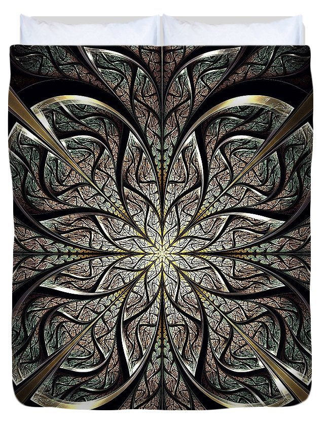 Computer Duvet Cover featuring the digital art Iron Gate by Anastasiya Malakhova