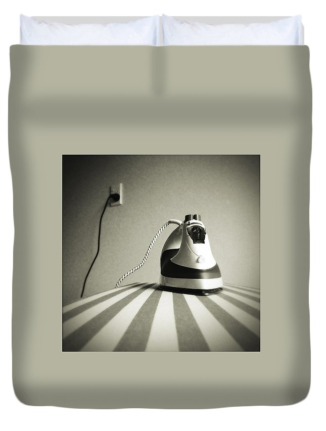 Retro Duvet Cover featuring the photograph Iron by Les Cunliffe