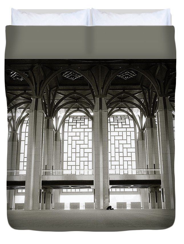 Asia Duvet Cover featuring the photograph Iron Mosque by Shaun Higson