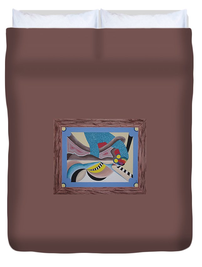 Expressionism Duvet Cover featuring the painting Irreconcilable Differences by Dean Stephens