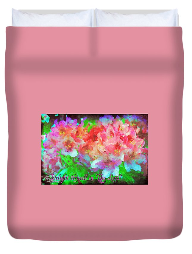 Jesus Duvet Cover featuring the digital art Isaiah 58 14 by Michelle Greene Wheeler