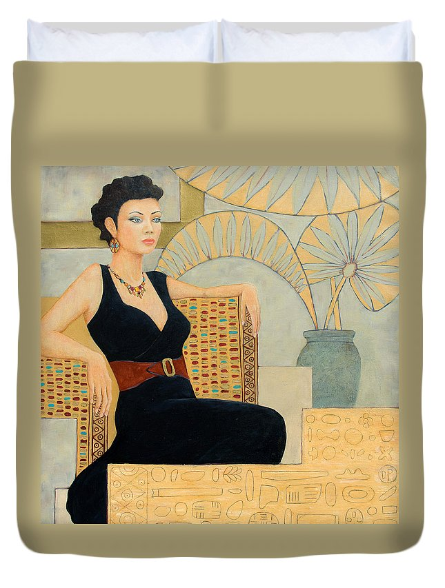 Fantasy Duvet Cover featuring the painting Isis by Don Perino