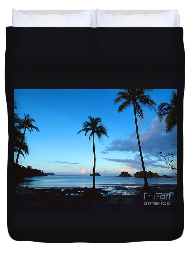 Island Duvet Cover featuring the photograph Isla Secas by Carey Chen