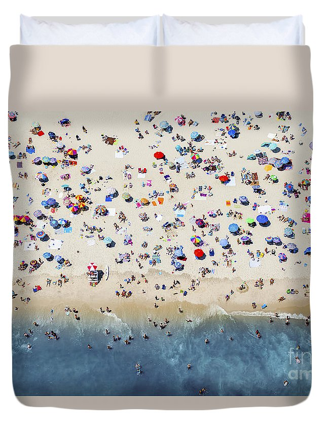 Active Duvet Cover featuring the photograph Island Beach State Park by Mike Raabe