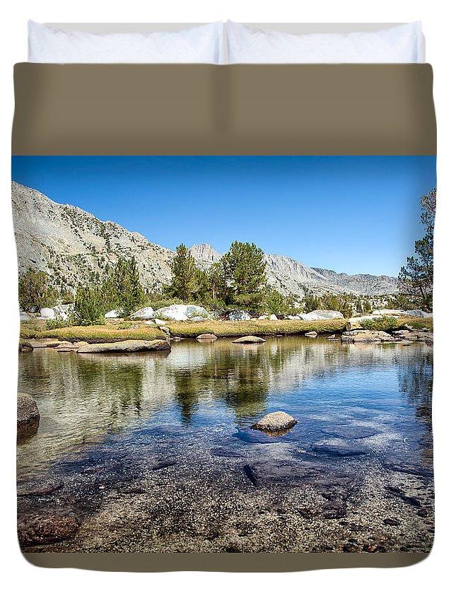 John Muir Trail Duvet Cover featuring the photograph Island Pass by Shauna Milton