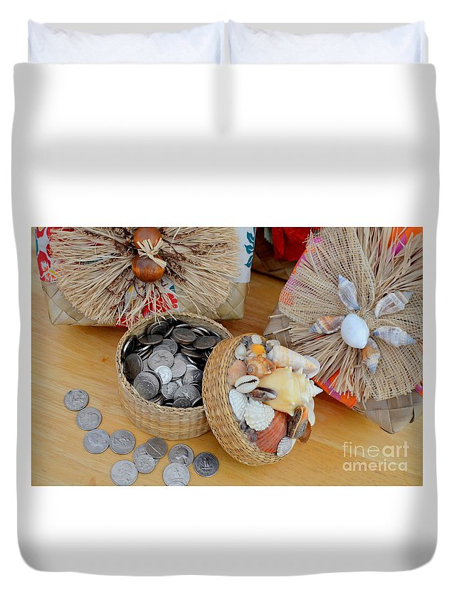 Hawaii Duvet Cover featuring the photograph Island Style Piggy Bank by Mary Deal