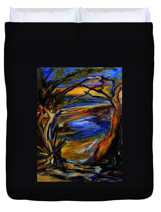 Art Duvet Cover featuring the painting Island Waters St. Kitts by Julianne Felton