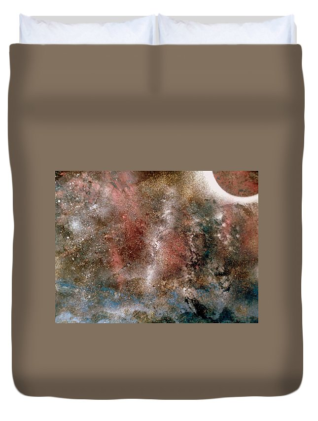 Abstract Duvet Cover featuring the painting Isolation by Gerry Smith