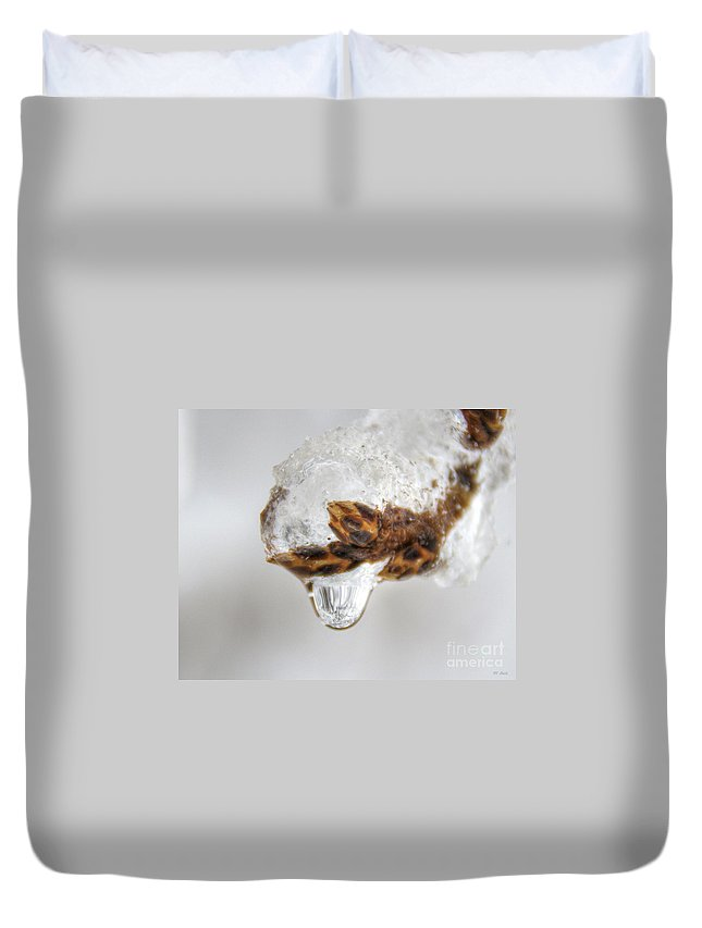 Bud Duvet Cover featuring the photograph It Is Melting by M Dale