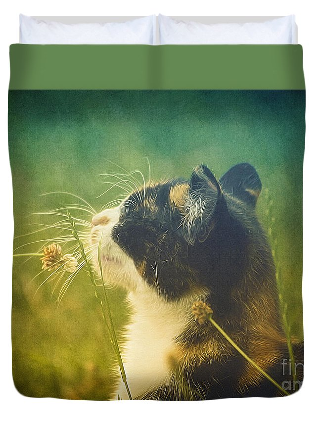 Photo Duvet Cover featuring the photograph It Smells Like Summer by Jutta Maria Pusl