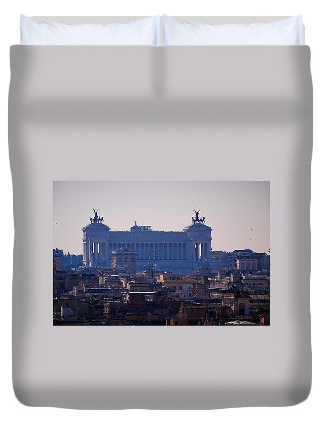 2013. Duvet Cover featuring the photograph Italian Democracy by Jouko Lehto