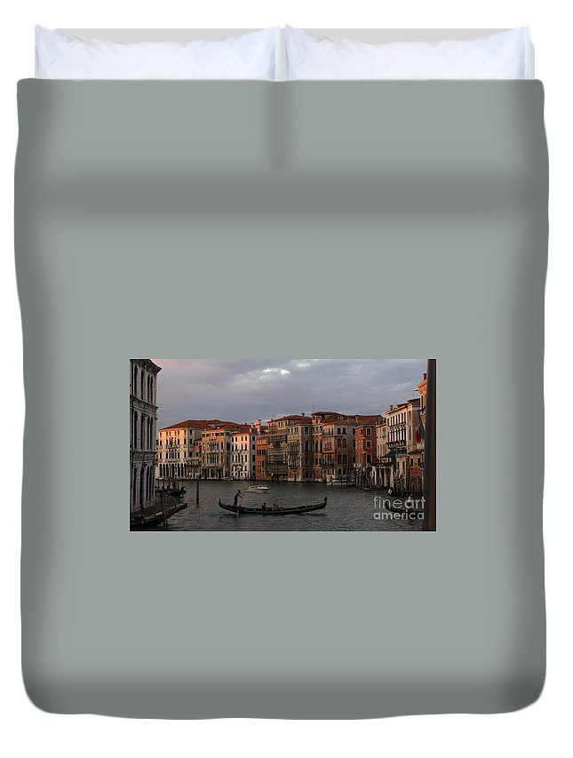 Venice Duvet Cover featuring the photograph Italian Evening by Jennifer Wheatley Wolf