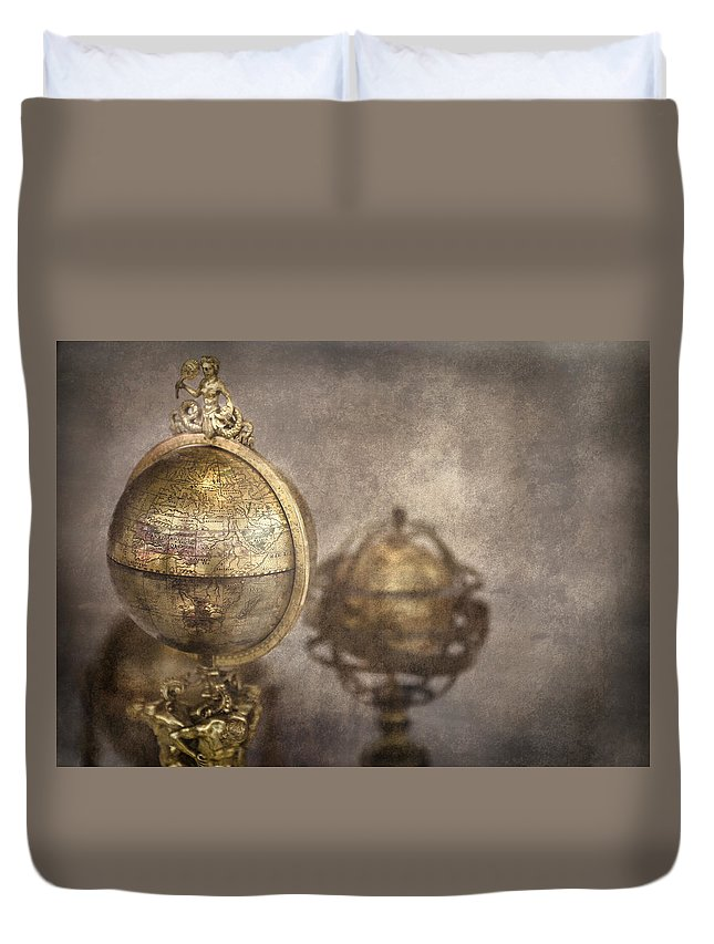 Globe Duvet Cover featuring the photograph Its A Small World by Heather Applegate