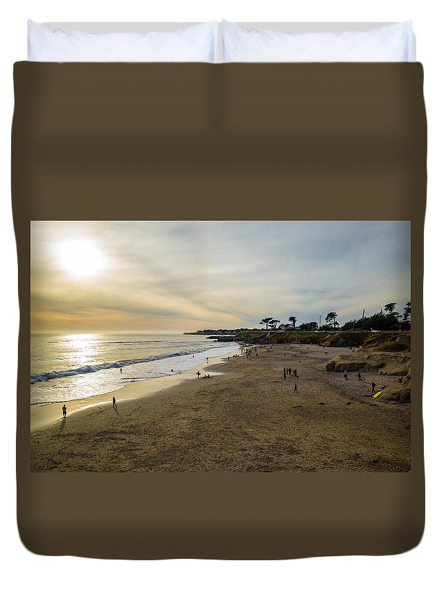 Its Beach Duvet Cover featuring the photograph Its Beach Afternoon In Santa Cruz by Priya Ghose